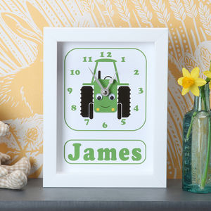 Personalised Framed Children's Clocks - best gifts for boys