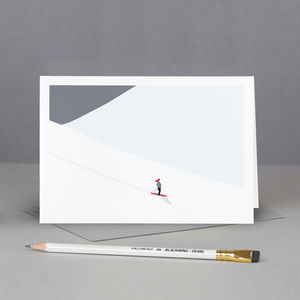 Skiiing Greetings Card