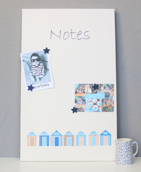 Beach Huts Magnetic Noticeboard