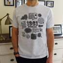 'Events Of 1961' 60th Birthday Gift T Shirt
