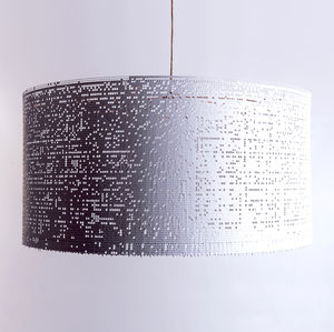 Mesh Metal Geometric Statement Lampshade - lighting