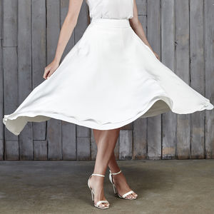 Thomas Bridal Midi Skirt - dresses