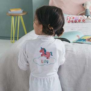 Personalised Children's Unicorn Dressing Gown
