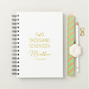 Personalised 2017 Hardback Weekly Diary - engagement gifts
