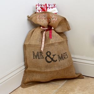Mr And Mrs Wedding Cards And Gifts Sack - stockings & sacks