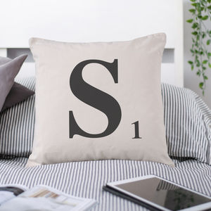 Personalised Letter Tile Cushion