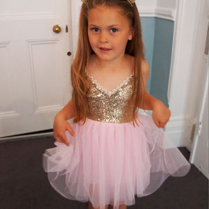 Ava Sequin And Tulle Party Dress - dresses