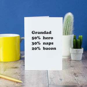 Personalised Percentage Grandad Card