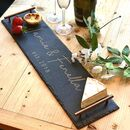 Long Slate Serving Platter With Copper Handles