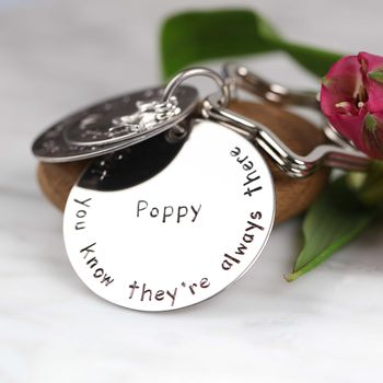 Personalised 'Sisters Are Like Stars…' Keyring