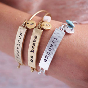 Personalised Mantra Bracelet - gifts for her