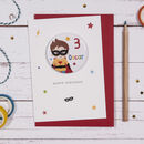 Superhero Badge Birthday Card