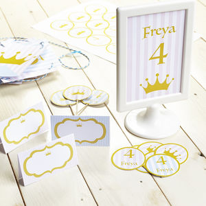 Princess Personalised Children's Party Decoration Pack
