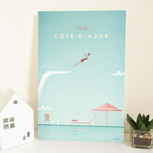 'Visit Côte D'azur' Travel Poster - maps & locations
