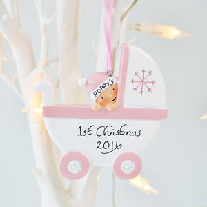Babies First Christmas Personalised Decoration - tree decorations