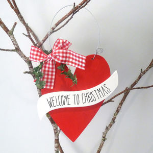 Christmas Welcome Sign - tree decorations
