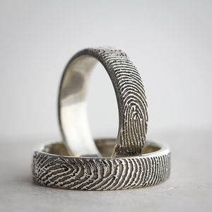 Your Fingerprint Personalised Ring - rings