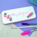 Personalised Teachers Floral Pencil Tin