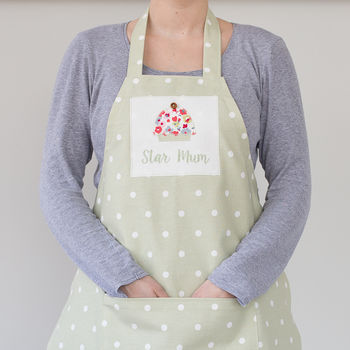 Personalised Spotty Cupcake Apron
