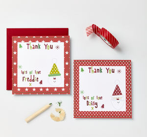 Personalised Christmas Thank You Cards - thank you cards