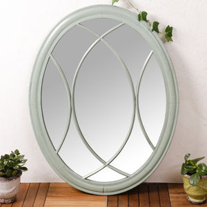 Duck Egg Blue Oval Mirror - mirrors