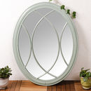 Duck Egg Blue Oval Mirror