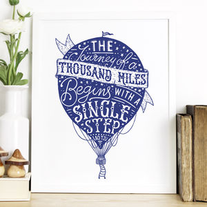 'Journey Of A Thousand Miles' Hot Air Balloon Print