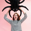 3x Large Spider Foil Party Balloons