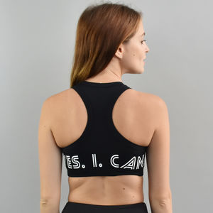 'Yes. I. Can.' Sports Bra - women's fashion