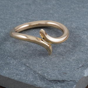 9ct Gold Wave Ring - rings