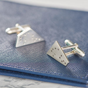 Contemporary Personalised Constellation Cufflinks - for fathers