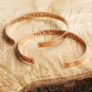 Personalised Copper Cuff For Men