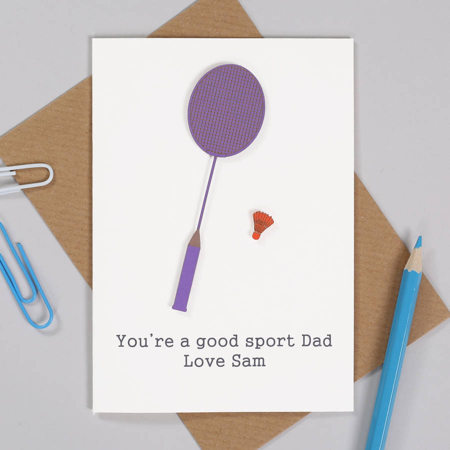 Personalised Badminton Birthday Card For Him
