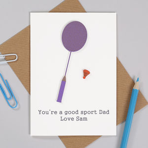 Personalised Badminton Birthday Card For Him - birthday cards