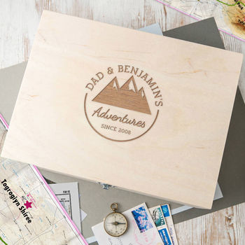 Personalised 'Adventures Of Me And Dad' Keepsake Box