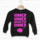 Winner Winner Brains Dinner Kids' Halloween Sweatshirt