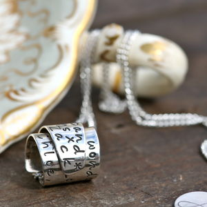Personalised Silver Secret Scroll Necklace - necklaces