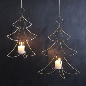 Hanging Christmas Tree Candle Holder - feeling cosy - hygge home ideas
