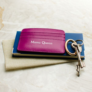 'Mama Queen' Leather Card Holder