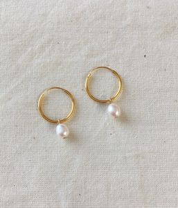 Pearl Creole Hoop Earrings