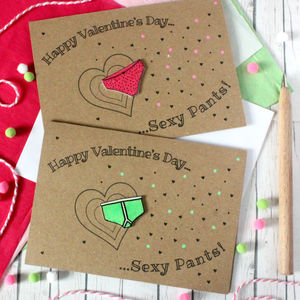 Happy Valentine's Day Sexy Pants! Fun Card