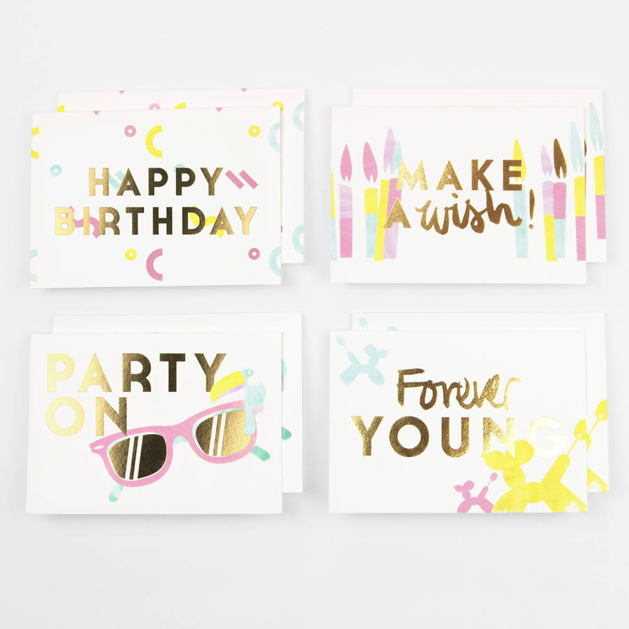 Party On Birthday Pack Of Eight Cards