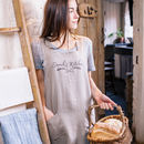 Personalised Wheat Sheaf Linen Crossback Apron
