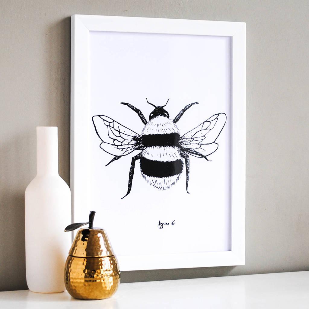 Bumble Bee Illustration Print