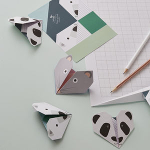 Origami Notepaper Set : Animal Set Two