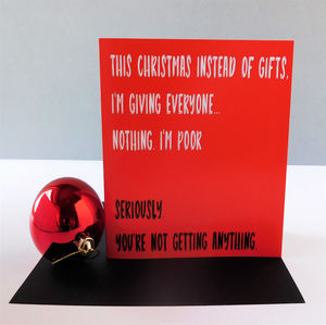 Funny 'I'm Poor' Christmas Card
