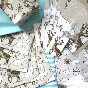 Arctic Animals Bumper Christmas Wrapping Paper Kit