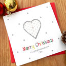 Personalised Heart Husband/Boyfriend Xmas Card