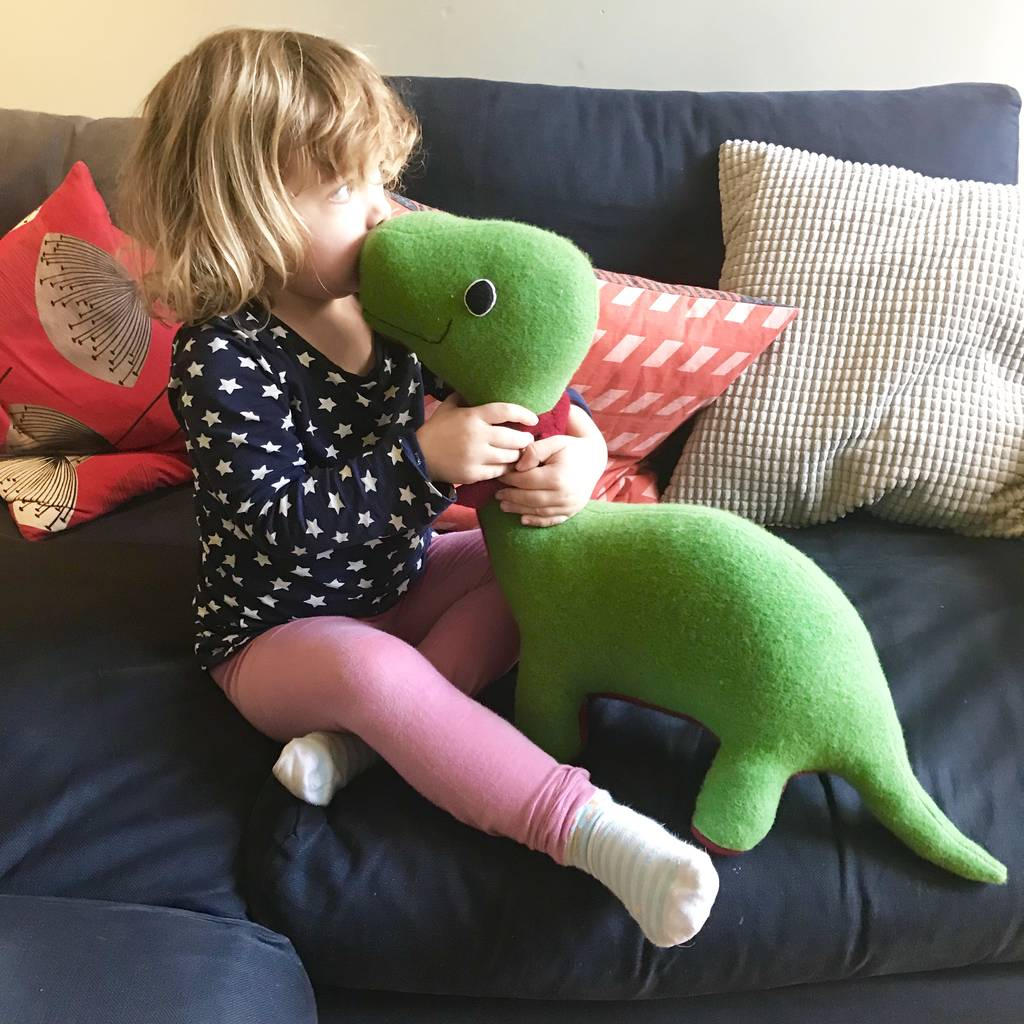 Dinosaur Soft Toy Extra Large And Handmade