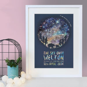 Personalised Bear And Cub Star Chart Print - for new mums